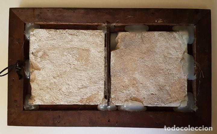Antigüedades: ANTIGUOS AZULEJOS DELFT S. XVIII NINÕS JUGANDO MOLDURA PALO SANTO - Foto 4 - 182963300
