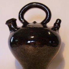 Antigüedades: EXCELENTE BOTIJO TERRISSA CATALANA DE OLOT XIX . Lote 182972767