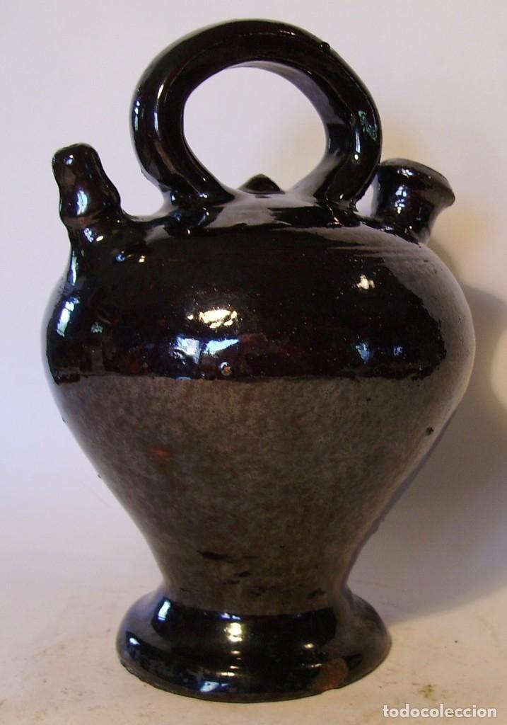 Antigüedades: EXCELENTE BOTIJO TERRISSA CATALANA DE OLOT XIX - Foto 5 - 182972767