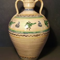 Antigüedades: ROTUNDO CÁNTARO CERÁMICA DE PUENTE DEL ARZOBISPO XIX . Lote 182974355