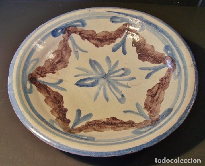 Antigüedades: ROTUNDO PLATO DE TALAVERA XVIII-XIX - Foto 2 - 182974522