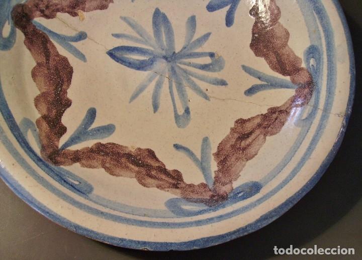 Antigüedades: ROTUNDO PLATO DE TALAVERA XVIII-XIX - Foto 5 - 182974522