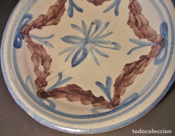 Antigüedades: ROTUNDO PLATO DE TALAVERA XVIII-XIX - Foto 6 - 182974522