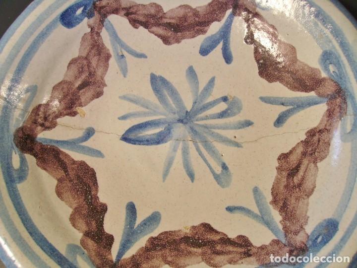 Antigüedades: ROTUNDO PLATO DE TALAVERA XVIII-XIX - Foto 8 - 182974522