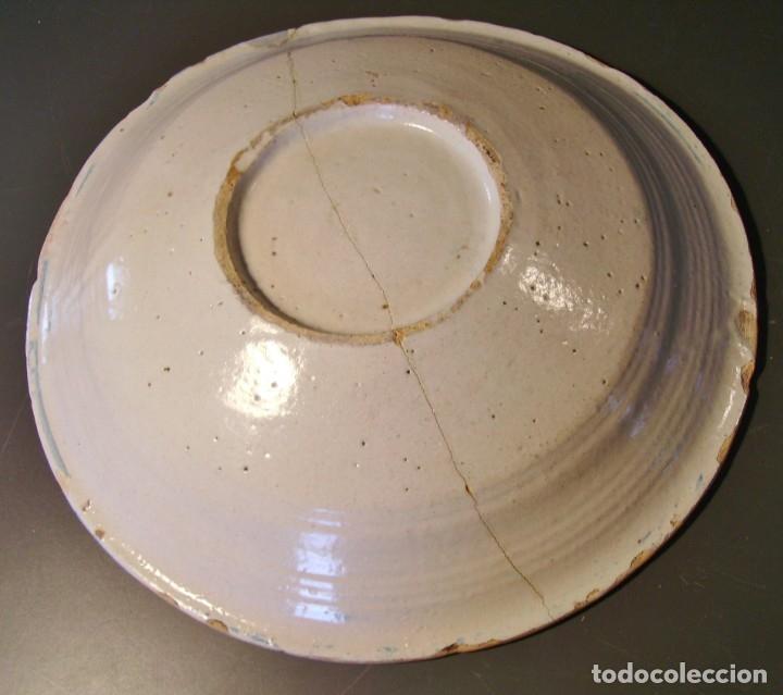 Antigüedades: ROTUNDO PLATO DE TALAVERA XVIII-XIX - Foto 11 - 182974522
