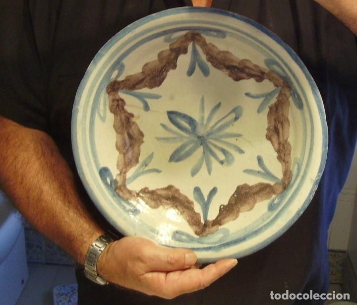 Antigüedades: ROTUNDO PLATO DE TALAVERA XVIII-XIX - Foto 12 - 182974522