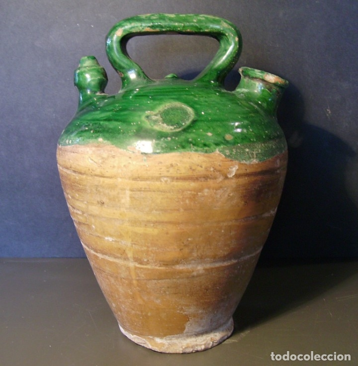 ROTUNDO BOTIJO DE TERRISSA CATALANA XX (Antigüedades - Porcelanas y Cerámicas - Catalana)
