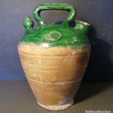 Antigüedades: ROTUNDO BOTIJO DE TERRISSA CATALANA XX . Lote 182974590