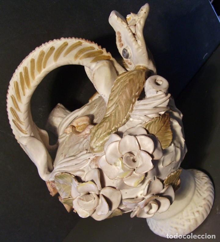 Antigüedades: ROTUNDO Y CREATIVO BOTIJO CERÁMICA CATALANA DE BREDA XX - Foto 12 - 182974667