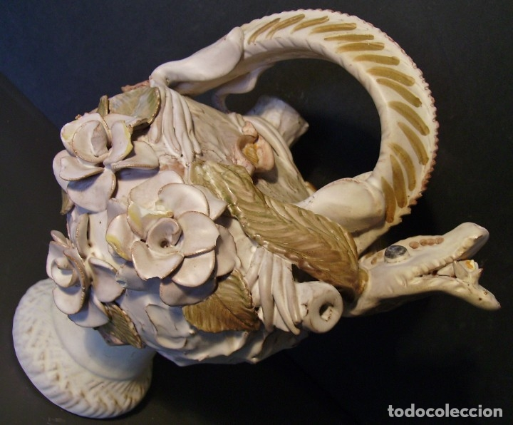 Antigüedades: ROTUNDO Y CREATIVO BOTIJO CERÁMICA CATALANA DE BREDA XX - Foto 13 - 182974667