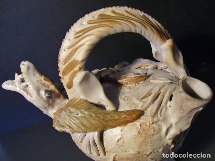 Antigüedades: ROTUNDO Y CREATIVO BOTIJO CERÁMICA CATALANA DE BREDA XX - Foto 15 - 182974667
