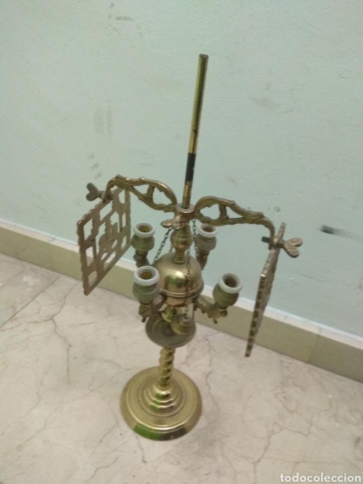 Antigüedades: Antigua Lámpara de Aceite - Luz Eléctrica - - Foto 3 - 182979637