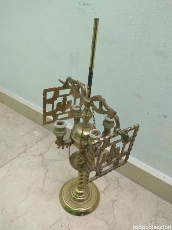 Antigüedades: Antigua Lámpara de Aceite - Luz Eléctrica - - Foto 4 - 182979637