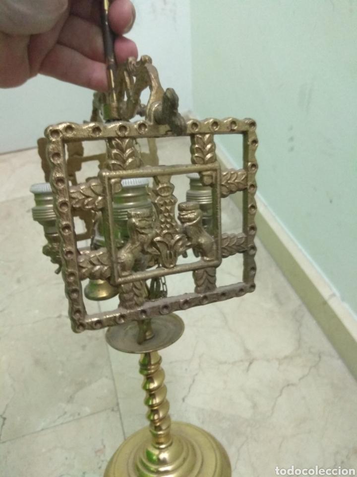 Antigüedades: Antigua Lámpara de Aceite - Luz Eléctrica - - Foto 5 - 182979637
