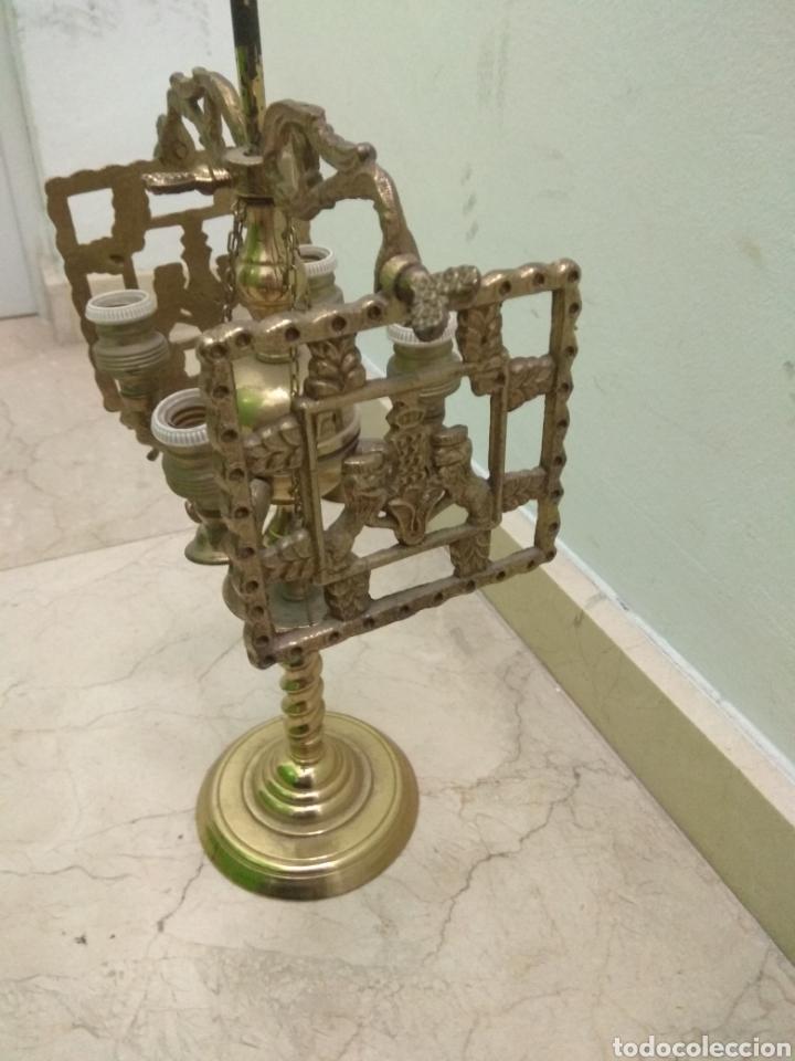 Antigüedades: Antigua Lámpara de Aceite - Luz Eléctrica - - Foto 6 - 182979637