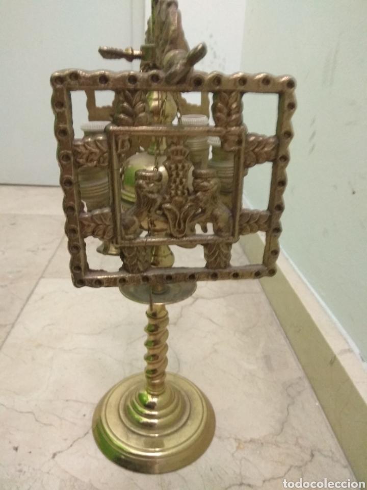 Antigüedades: Antigua Lámpara de Aceite - Luz Eléctrica - - Foto 7 - 182979637