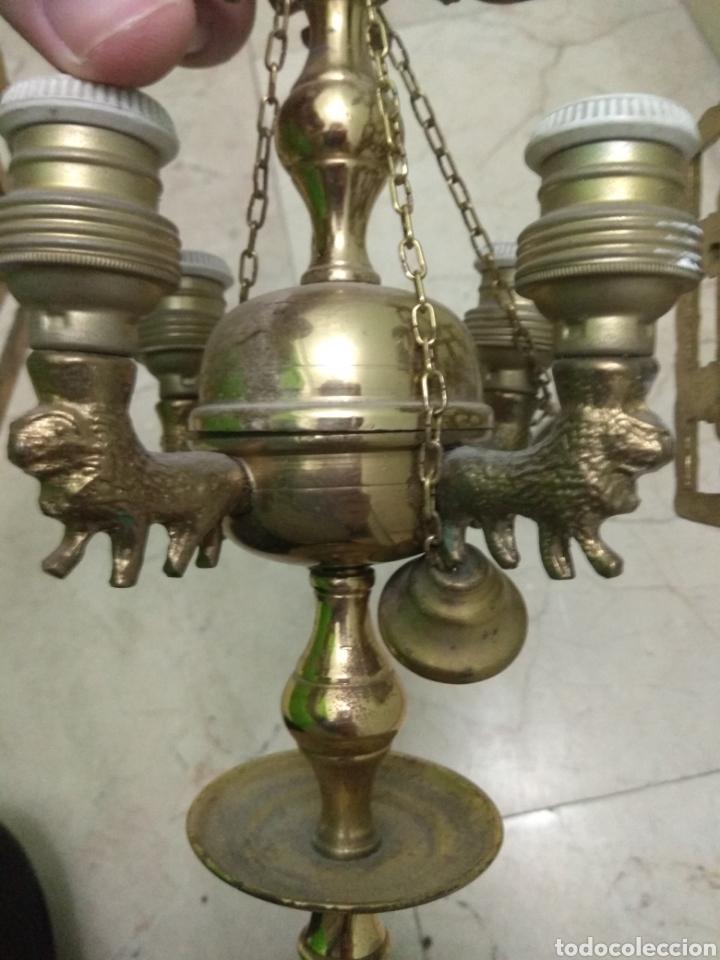 Antigüedades: Antigua Lámpara de Aceite - Luz Eléctrica - - Foto 9 - 182979637