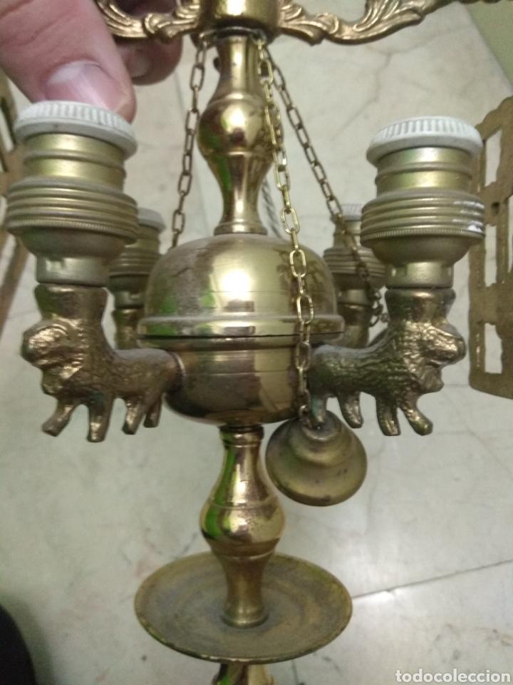 Antigüedades: Antigua Lámpara de Aceite - Luz Eléctrica - - Foto 10 - 182979637
