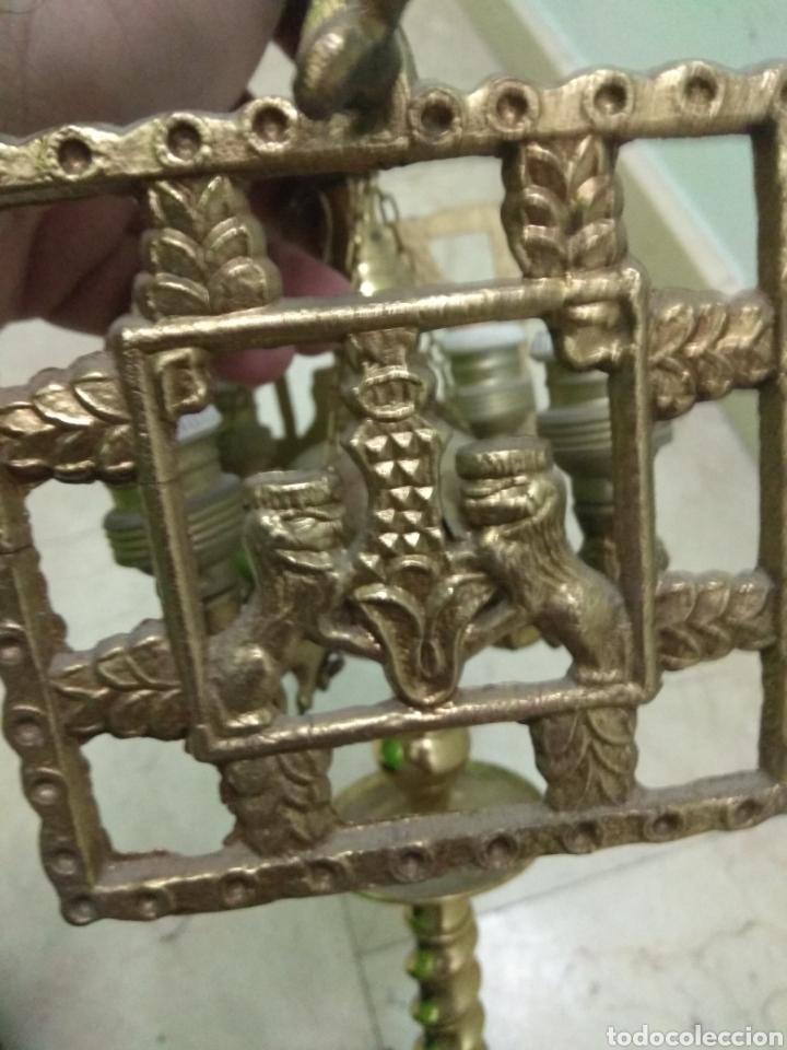 Antigüedades: Antigua Lámpara de Aceite - Luz Eléctrica - - Foto 11 - 182979637