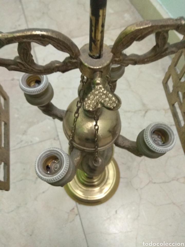 Antigüedades: Antigua Lámpara de Aceite - Luz Eléctrica - - Foto 12 - 182979637