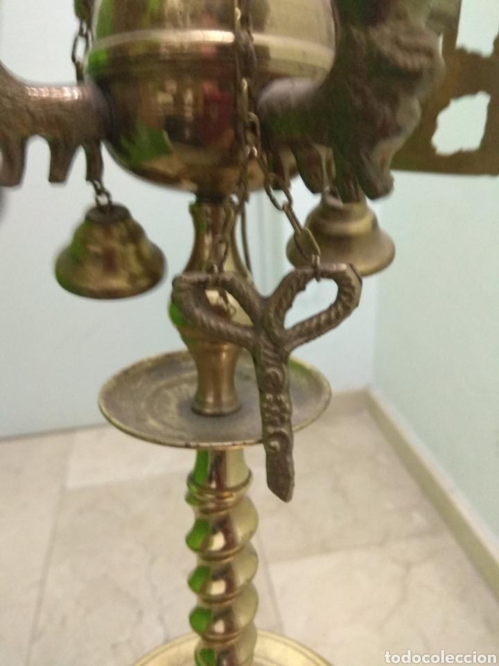 Antigüedades: Antigua Lámpara de Aceite - Luz Eléctrica - - Foto 13 - 182979637