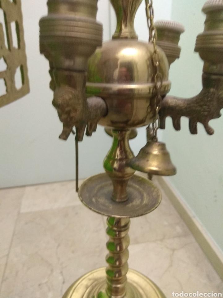 Antigüedades: Antigua Lámpara de Aceite - Luz Eléctrica - - Foto 14 - 182979637