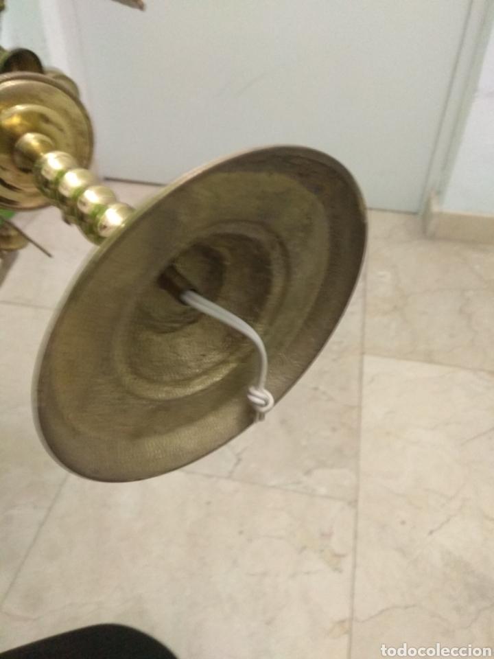 Antigüedades: Antigua Lámpara de Aceite - Luz Eléctrica - - Foto 15 - 182979637