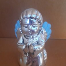 Antigüedades: SIMPÁTICA FIGURA DE ANGELITO QUERUBÍN EN PLATA. Lote 182979816
