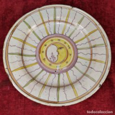 Antigüedades: PLATO. CERÁMICA ESMALTADA A MANO. CATALUNYA. ESPAÑA. SIGLO XIX. Lote 182979846