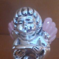 Antigüedades: ANGELITO QUERUBÍN CANTOR ALAS ROSA EN PLATA. Lote 182980431