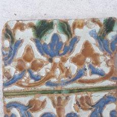 Antigüedades: AZULEJO ANTIGUO DE TOLEDO - ARISTA O CUENCA - RENACIMIENTO SIGLO XVI.. Lote 182982165