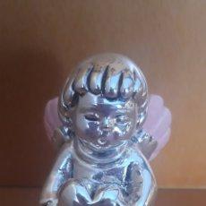 Antigüedades: SIMPÁTICO ANGELITO ALAS ROSAS SOSTENIENDO CORAZÓN. Lote 182983093