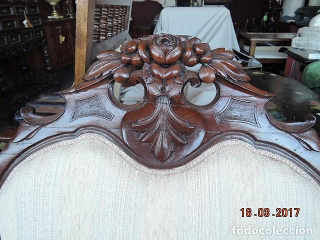 Antigüedades: SOFA ISABELINO ANTIGUO BLANCO - Foto 3 - 182985340