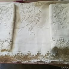 Antigüedades: JUEGO DE CAMA HILO. Lote 182987580