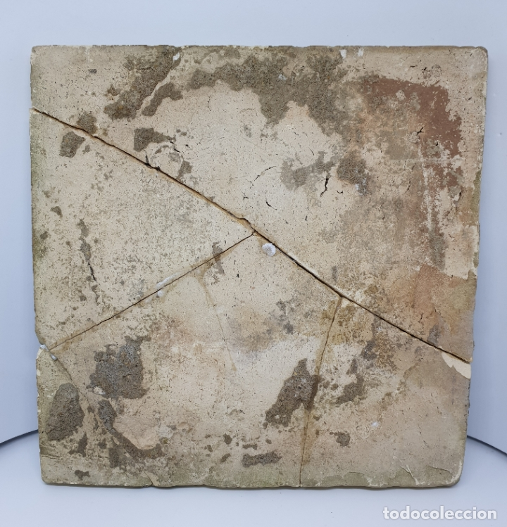 Antigüedades: CURIOSO AZULEJO CON ESCUDO HERALDICO EN CERAMICA DE TRIANA,TALAVERA,MANISES???,S. XVIII-XIX - Foto 5 - 182988957