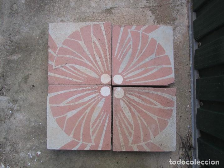 FRISO 4 ANTIGUA BALDOSA HIDRAULICA CATALANA (Antigüedades - Porcelanas y Cerámicas - Catalana)