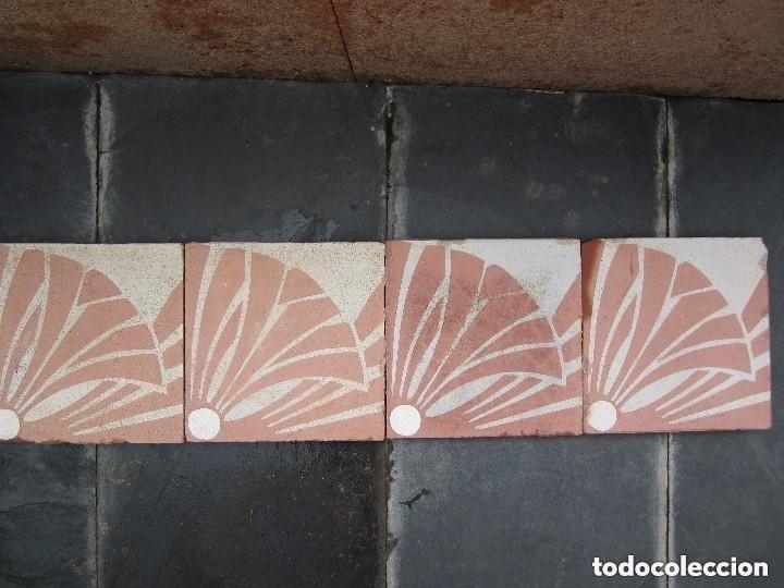Antigüedades: Friso 4 Antigua baldosa hidraulica Catalana - Foto 7 - 182992292
