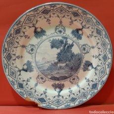 Antigüedades: BONITO PLATO DE ALCORA. MIDE 34 CM.. Lote 182993135