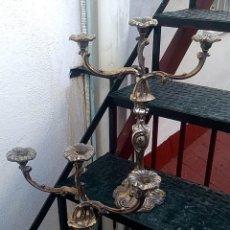 Antigüedades: ENORMES CANDELABROS DE BRONCE, AÑOS 20/30 VER FOTOS Y DESCRIPCION.. Lote 182996617