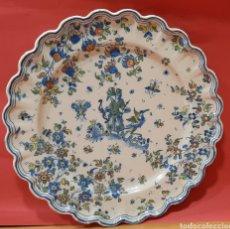 Antigüedades: ENORME PLATO DE FAITANAR CON MARCAS. MIDE 44 CM.. Lote 182996868