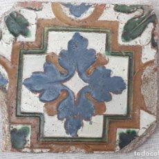 Antigüedades: AZULEJO ANTIGUO DE TOLEDO - ARISTA O CUENCA - RENACIMIENTO -SIGLO XVI.. Lote 183003091