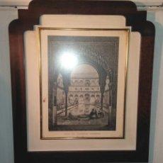 Antigüedades: LITOGRAFIA DE LA ALHAMBRA GIRAULT DE PRANGEY. Lote 183018013