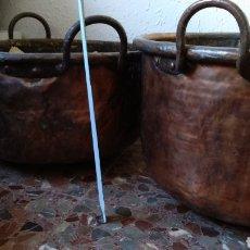 Antigüedades: LOTE CALDEROS ESPECTACULARES. Lote 183037725