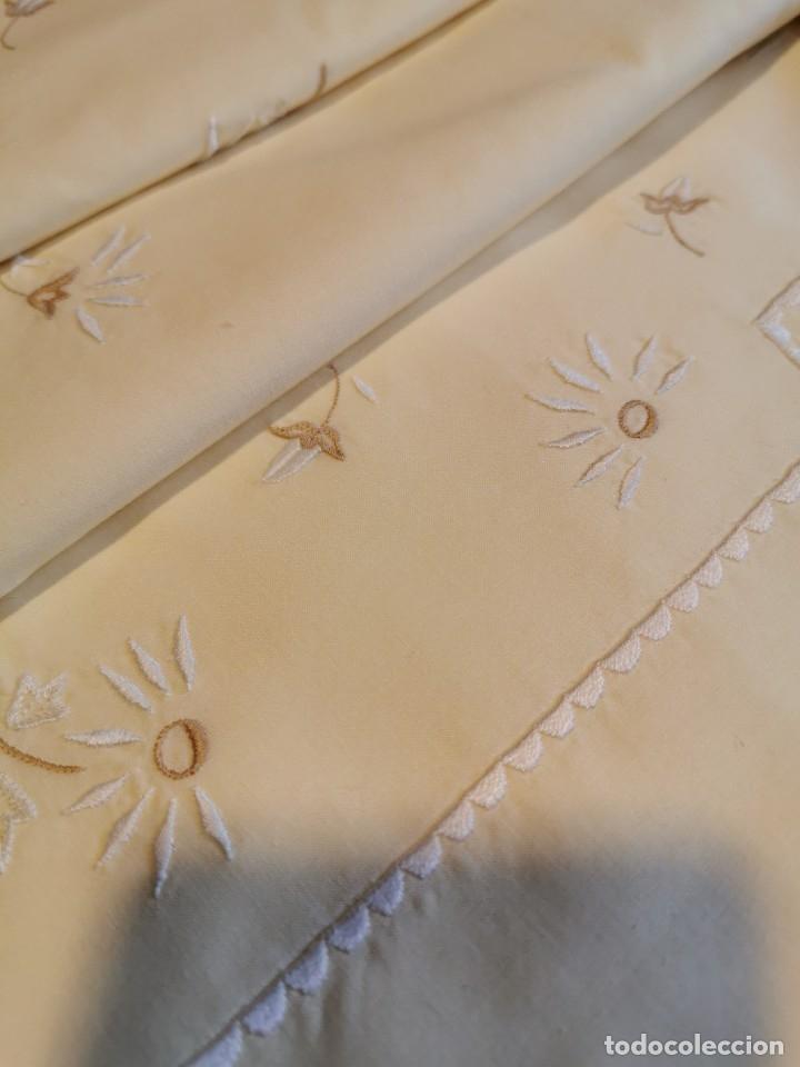 Antigüedades: Juego de sábanas de tres piezas Viuda de Tolrá - Foto 2 - 183040762