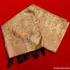 Antigüedades: GRAN CHAL - ECHARPE DE CACHEMIRA Y SEDA - 1,98 METROS.. Lote 254382545