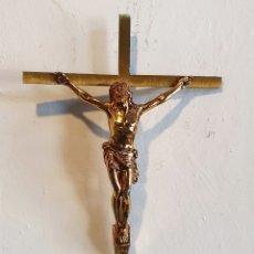 Antigüedades: CRUCIFIJO DE BRONCE. Lote 183049508