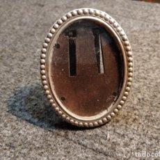 Antigüedades: PEQUEÑO MARCO PORTAFOTOS OVALADO EN PLATA 925 - 6.5 X 5CM. Lote 183059666