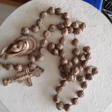 Antigüedades: ROSARIO GRAN TAMAÑO TALLADO A MANO. Lote 226892106