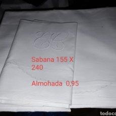 Antigüedades: SABANAS ANTIGUAS MEDIDA EN LA FOTO. Lote 183063346