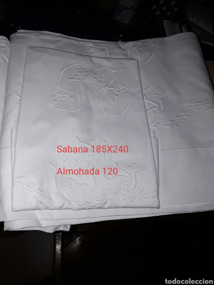 SABANAS ANTIGUAS MEDIDA EN LA FOTO (Antigüedades - Hogar y Decoración - Sábanas Antiguas)